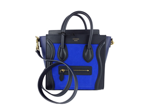 SOLD OUT BRAND NEW Celine Nano Blue Drummed Leather