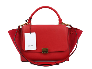 SOLD OUT BRAND NEW Celine Red Calf Skin Trapeze Bag