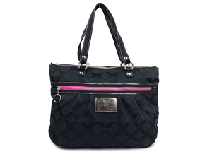 Coach Poppy Tote Bag Black