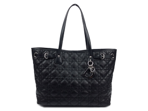 SOLD OUT Christian Dior Black Panarea Tote With Silver Hardware