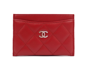 SOLD OUT BRAND NEW Chanel Red Lambskin Card Holder