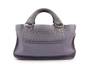 Celine Leather Studded Boogie Satchel Bag