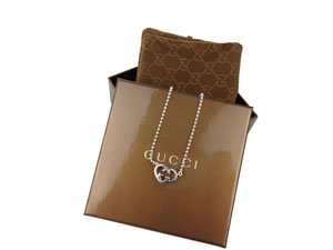 SOLD OUT Gucci Necklace With Heart-Shaped Interlocking G Motif Pendant