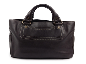 SOLD OUT Celine Dark Brown Leather Boogie Tote Bag