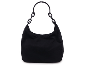Prada Nylon Plastic Chain Shoulder Bag