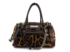 Dolce And Gabbana Leopard Satin Miss Easy Way Mini Boston Bag