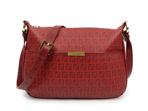 SOLD OUT Fendi Red FF Waterproof Canvas Zip Messenger