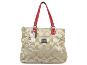 Coach Poppy Signature Sateen Glam Tote Bag 18351