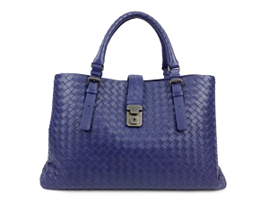 Bottega Veneta Prusse Intrecciato Light Calf Roma Bag