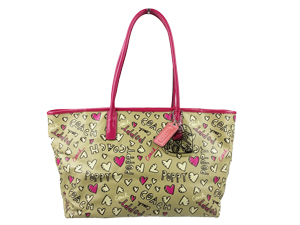 Coach Poppy Coated Canvas Graffiti Tote 16507