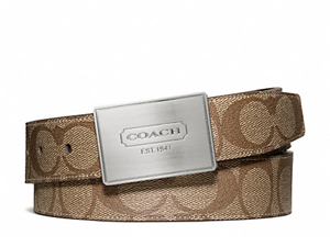 BRAND NEW Coach Lozenge Plaque Heritage Stripe Cut To Size Reversible Belt F66111