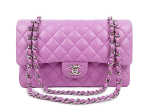 Chanel Lambskin Double Flap With Silver Hardware