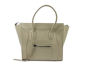Celine Luggage Phantom in Supple Calfskin Pearl Grey