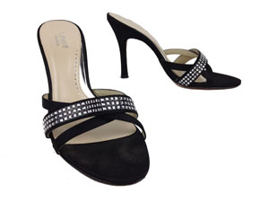Lewre Black High Hill Open Toe