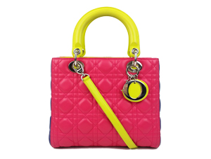 SOLD OUT Christian Dior Tricolor Lambskin Lady Dior Two Way Small