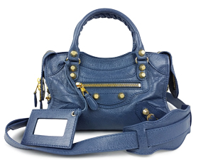 Balenciaga Blue Giant 12 Gold Mini City