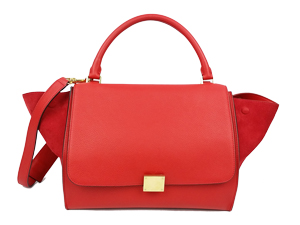 SOLD OUT Celine Red Calfskin Medium Trapeze