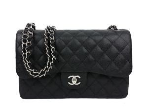 BRAND NEW Chanel Black Caviar Jumbo Double Flap WSH