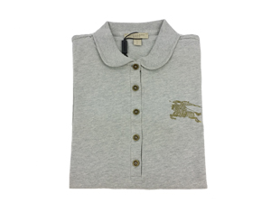 BRAND NEW Burberry Pale Grey Melange Polo T-Shirt