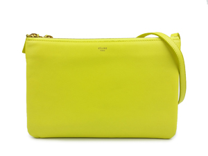 SOLD OUT Celine Lambskin Trio Crossbody Bag-Yellow