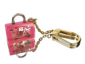 SOLD OUT Louis Vuitton Pink Speedy Bag Charm Key Ring