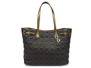 Christian Dior Panarea Tote With Gold Hardware