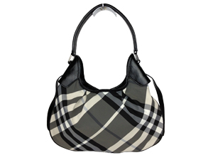 BRAND NEW Burberry Charcoal Check Hobo Bag