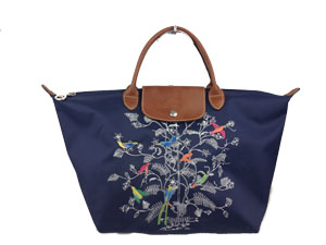 Limited Edition Longchamp Le Pliage Long Bird Tote Bag