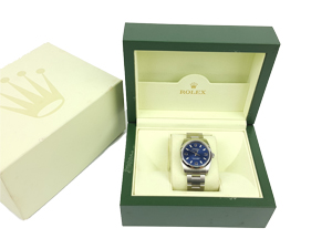 Rolex Airking Blue Arabic Numeral Dial Auto S/S 34mm