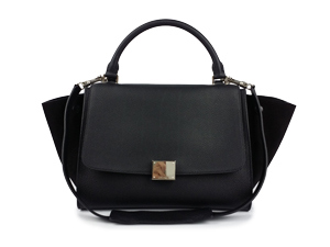 SOLD OUT Celine Black Calf Skin Trapeze Bag