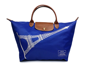 BRAND NEW Longchamp Le Pliage Short Handle - Large Eiffel Tower