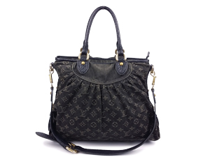 Louis Vuitton Black Denim Neo Cabby Tote GM