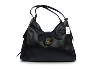 Coach Madison Carlyle Black Leather Shoulder Bag 32221