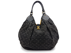 Limited Edition Louis Vuitton Mahina XL Denim Noir Handbag