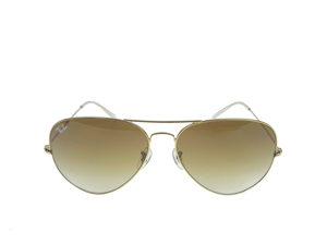 SOLD OUT BRAND NEW Ray Ban Aviator Large Metal 001/51 62-14 Light Brown Gradient Lenses