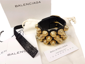 SOLD OUT Balenciaga Giant 12 Triple-Row Leather Bracelet