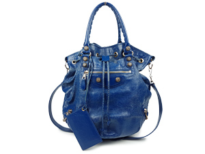 Balenciaga Blue Two Way Bag