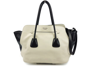 Prada Soft Calf Leather Two Way Tote BN2611
