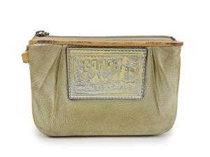 SOLD OUT Coach Poppy Sparkle Leather Wristlet
