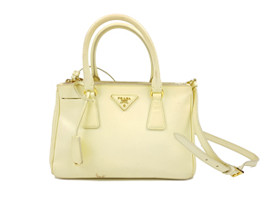 Prada Yellow Saffiano Tote w/ Shoulder Strap