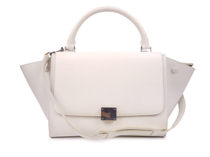 Celine White Calf Skin Trapeze Bag