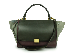Celine Tricolor Smooth Leather Trapeze Bag