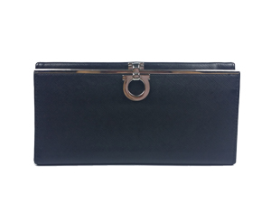SOLD OUT Salvatore Ferragamo Black Leather Wallet