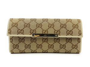 BRAND NEW Gucci GG Canvas Long Wallet