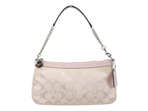 Coach Signature Pink w/ Chain Bag F44612