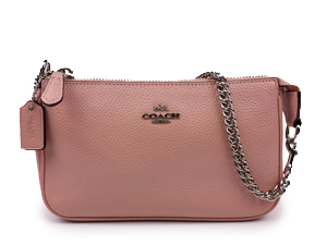 SOLD OUT Coach Pink Leather Wristlet With Silver Hardware