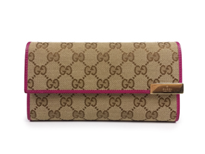 Gucci Trademark Continental GG Canvas Long Wallet