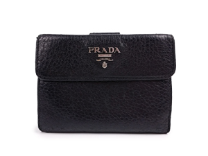 Prada Leather French Wallet 1M0523