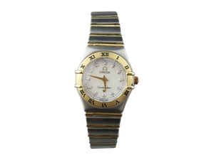 Omega Constellation 95 Yellow Gold On Steel Ladies Watch 1262.75.00