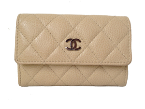 Sold Out Chanel CC Beige Caviar Card Holder